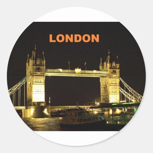 Puente de Londres (St.K) Pegatina Redonda