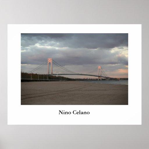 Puente de los estrechos de Verrazano Póster
