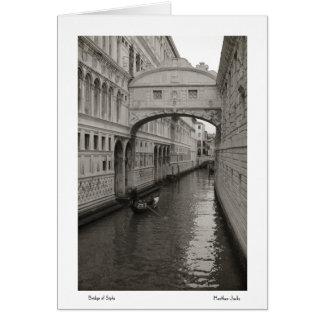 Puente de los suspiros Notecards Tarjeta Pequeña