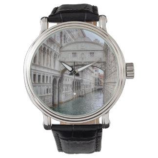 Puente de los suspiros Venecia Italia Relojes De Pulsera