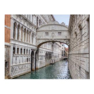 Puente de los suspiros Venecia Italia Tarjeta Postal