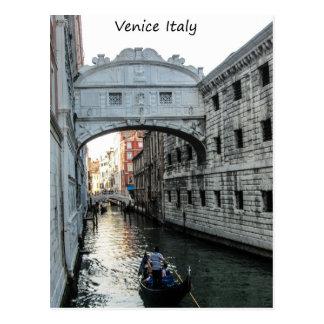 Puente de los suspiros Venecia Tarjeta Postal