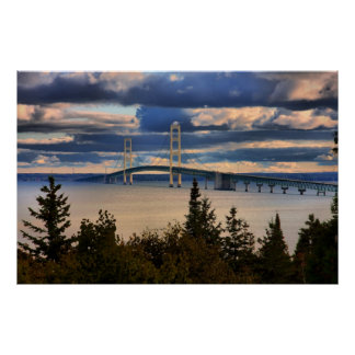 Puente de Mackinac #1060 Póster