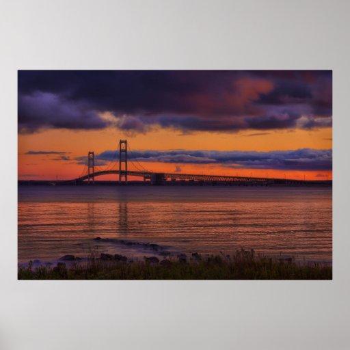 Puente de Mackinac #1192 Impresiones