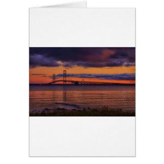 Puente de Mackinac 1192 Tarjeta De Felicitación