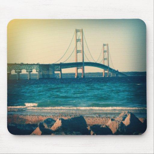 Puente de Mackinac del estilo de Holga Mousepad Tapete De Raton