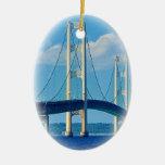 Puente de Mackinac del ornamento del navidad Adornos De Navidad