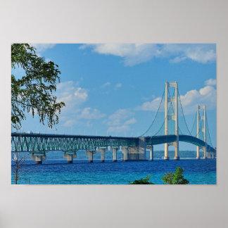 Puente de Mackinac del poster