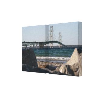 Puente de Mackinac envuelto Lona Envuelta Para Galerías