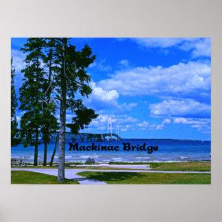 Puente de Mackinac Michigan Póster