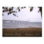 Puente de Mackinac Michigan Tarjeta Postal