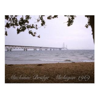 Puente de Mackinac Michigan Tarjetas Postales