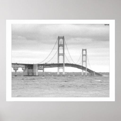 Puente de Mackinac Posters