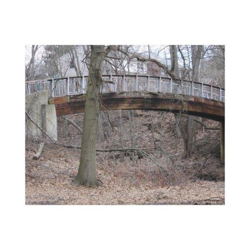 puente de madera impresión en lona estirada
