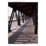Puente de madera tarjeta