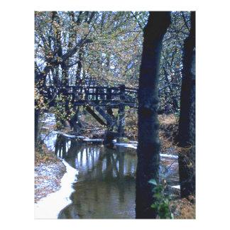Puente de maderas plantilla de membrete