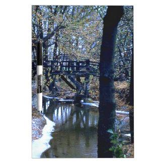 Puente de maderas pizarra