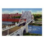 Puente de Manchester New Hampshire Notre Dame Poster