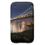 Puente de Manhattan en la noche iPhone 3 Tough Cobertura