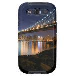 Puente de Manhattan en la noche Galaxy SIII Protector