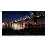 Puente de Manhattan en la noche Plantilla De Tarjeta Personal