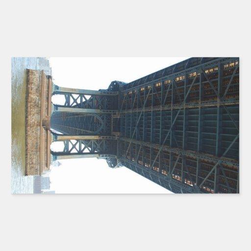 Puente de Manhattan Pegatina Rectangular