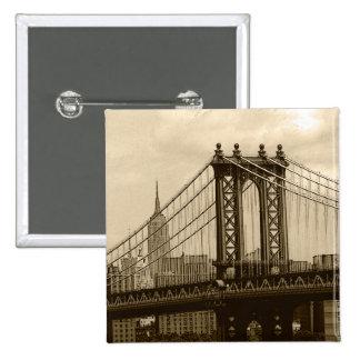 Puente de Manhattan Pin Cuadrado