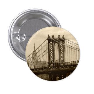 Puente de Manhattan Pin Redondo De 1 Pulgada
