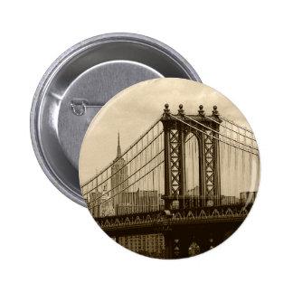 Puente de Manhattan Pin Redondo De 2 Pulgadas