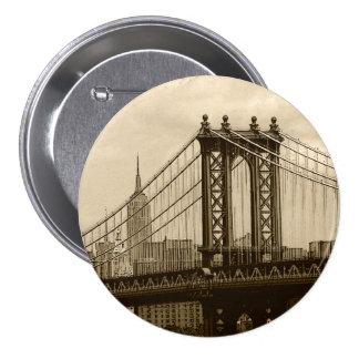 Puente de Manhattan Pin Redondo De 3 Pulgadas