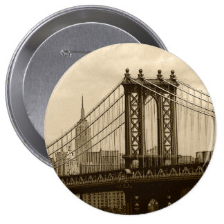 Puente de Manhattan Pin Redondo De 4 Pulgadas