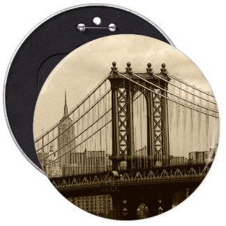 Puente de Manhattan Pin Redondo De 6 Pulgadas
