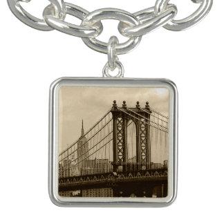 Puente de Manhattan Pulsera Con Dije