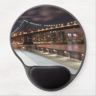 Puente de Manhattan y horizonte de NYC Alfombrilla Para Ratón De Gel