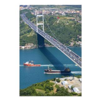 Puente de Mehmet del sultán de Fatih sobre el Bosp Impresiones Fotograficas