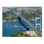 Puente de Mehmet del sultán de Fatih sobre el Bosp Postal