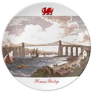 Puente de Menai Platos De Cerámica