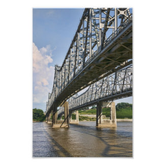 Puente de Mississippi en Natchez Impresiones Fotográficas