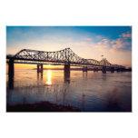 Puente de Mississippi en Vicksburg Arte Fotografico