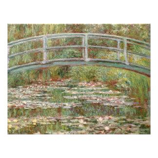 """Puente de Monet el """"sobre una charca de los lirios Tarjetas Publicitarias"""
