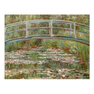 Puente de Monet el sobre una charca de los lirios Tarjetas Postales