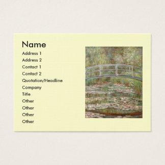 """Puente de Monet el """"sobre una charca de los lirios Tarjeta De Negocios"""