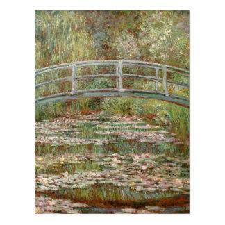 """Puente de Monet el """"sobre una charca de los lirios Postal"""