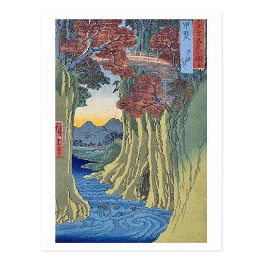Puente de mono de Saruhashi Kai Postales