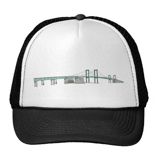 Puente de monumento de Delaware: modelo 3D: Gorras