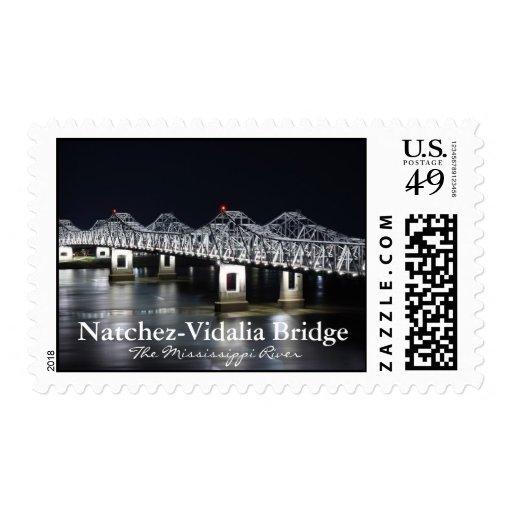 Puente de Natchez-Vidalia - sellos del río Misisip