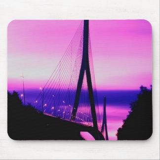 Puente de Normandía, Le Havre, Francia 2 Alfombrillas De Raton