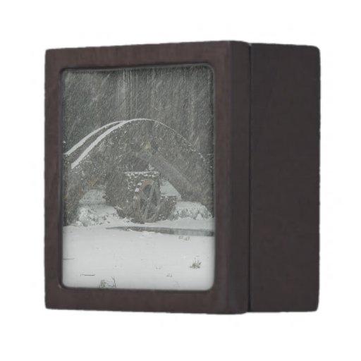 Puente de Nueva Inglaterra Nevado Cajas De Regalo De Calidad