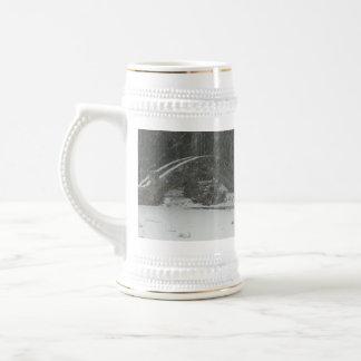 Puente de Nueva Inglaterra Nevado Jarra De Cerveza