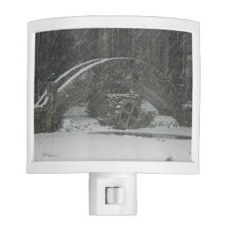Puente de Nueva Inglaterra Nevado Lámpara De Noche